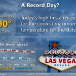 Todays high in #Vegas tied a record! Did you enjoy the more pleasant temps? #nvwx #VegasWeather https://t.co/RBRFFFgvoD