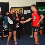A special moment for @brandonwhite031. The 1,582nd player to wear the 🔴⚪️⚫️ #AFLSaintsLions https://t.co/ec17BEyL7M