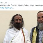 The moment Sri Sri meets Burhan Wanis father @NDTV demoted him from Head Master to terrorist Burhan Wanis father https://t.co/GHFFFfLLwh