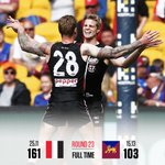 What a way to finish. #AFLSaintsLions https://t.co/vbE0WNyz5H