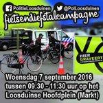 Binnenkort #Fietsendiefstalcampagne Loosduinse Hoofdplein: Komt u 7sept tussen 09:30-11:30 uur langs? #Graveren ^RD https://t.co/upuO23GjKo