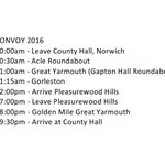 Approximate running times for 2016 Childrens Convoy 🚚💨🚛💨🚚💨🚛💨 https://t.co/01gOxXFhjJ