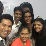 In company of champs who proved their mettle @Pvsindhu1 @SakshiMalik @DipaKarmakar & super coach #PullelaGopichand https://t.co/s8uhKtEKjv