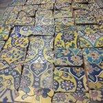 بخشی از کاشیهای تاریخی شهر تهران که توسط یگان حفاظت #میراث_فرهنگی کشف شده است. https://t.co/JKr7EOuBLc