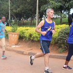 Cancer survivor @DrIanClarke joined us in the race for Hope. RT and show us how you run allover cancer. #RotaryCR16 https://t.co/iXXsTkkphy