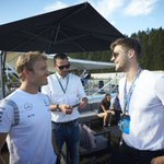 Off track,special guests capped off an epic @MercedesBenzUK road trip with chill time on the terrace! #F1 #BelgianGP https://t.co/IglWVAhmPw