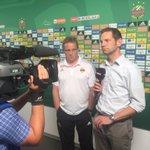 Unser Trainer beim Interview mit @SkySportAustria #scrrbs https://t.co/4phEqmnPar