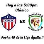 Hoy todos somos celestes, apoyando a Jaguares Futbol Club por la fecha 10 de la Liga Águila II, a las 5:30pm. https://t.co/FRVCwvGQna