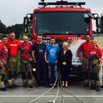 Welcoming the Fire Fighters in - well done everyone #memory #colinkemp @NorthHykehamTC @NHykehamFire https://t.co/zGKC9o89V7