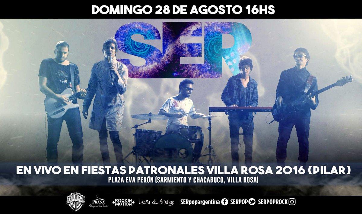 HOY 16hs! SER en vivo en FIESTAS PATRONALES VILLA ROSA (PILAR)  Plaza Eva Perón (Sarmiento y Chacabuco, Villa Rosa). https://t.co/NaA9Ud18xn