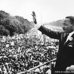 """#OnThisDay: August 28, 1963, Martin Luther King Jr, gave his """"I Have a Dream"""" speech during the March on Washington. https://t.co/v7Enw1sqQ3"""