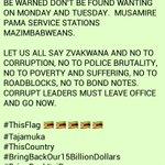 BREAKING NEWS: They toyi toyi, we ShutDown! #MugabeMustGo #ThisFlag #Tajamuka #SaveZimbabwe https://t.co/ODcqMlaF6T