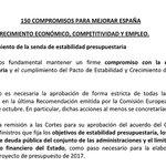 #PDF Lea las 150 medidas pactadas entre el PP y Ciudadanos para la investidura de Rajoy https://t.co/HDDhM3jPJG https://t.co/jDhjoffWqL