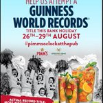 @PimmsGB Join us for #WorldRecord attempt #BankHolidayWeekend! #Greenwich #DogFriendly @MisterGreenwich @Bosher16 https://t.co/WEv9i2W4Cp