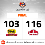 Ginebra with the vintage comeback over falling Star https://t.co/uEIF2pEBfX