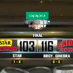 Ginebras strong second half effort brings them to a 116-103 victory over their archrival! #ManilaClasico #PBAonTV5 https://t.co/21bfUsFrWy