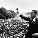 """#OTD in 1963, Dr. Martin Luther King, Jr., delivers his """"I Have a Dream"""" Speech at the March for Jobs and Freedom. https://t.co/nV9eBLdD26"""