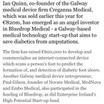 .@JohnReynlds Covers @BluedropMedical today! Delighted for this incredible #BOIstartlab team, this is just the start https://t.co/bOcjBaY10J