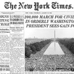 200,000 March on Washington and Martin Luther King Jr. had a dream, 53 years ago today. https://t.co/jhBN5g0YYX https://t.co/CzQhRxsFif