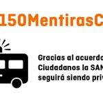 Gracias al acuerdo de @CiudadanosCs la SANIDAD seguirá siendo PRIVATIZADA. #150MentirasCs https://t.co/kpQepIH91D