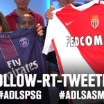 [Follow+RT+Tweetez] Tentez de remporter le maillot du PSG ou de Monaco avec les hashtags #ADLSPSG et #ADLSASM. https://t.co/TSj9G51Wz2