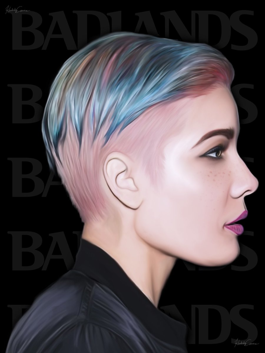 """It's been a year since @halsey's """"Badlands"""" released! Here is a piece I did awhile back. #OneYearofBADLANDS https://t.co/gyMrzsdmDP"""
