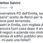 """Errani, governatore PD dellEmilia, sarebbe il """"commissario"""" scelto da Renzi per la ricostruzione post terremoto. https://t.co/wLvmv4IfTz"""