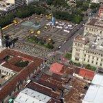 Panorámica @21KMuniGuate que avanza por #PlazaDeLaConstitución.  #Guatemala #Deporte #Runners #TráficoGT #TránsitoGT https://t.co/gVNJWzklP1