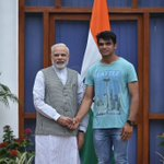 With Neeraj Chopra, the well known javelin thrower who has made India proud. https://t.co/q5VnKsnpLH