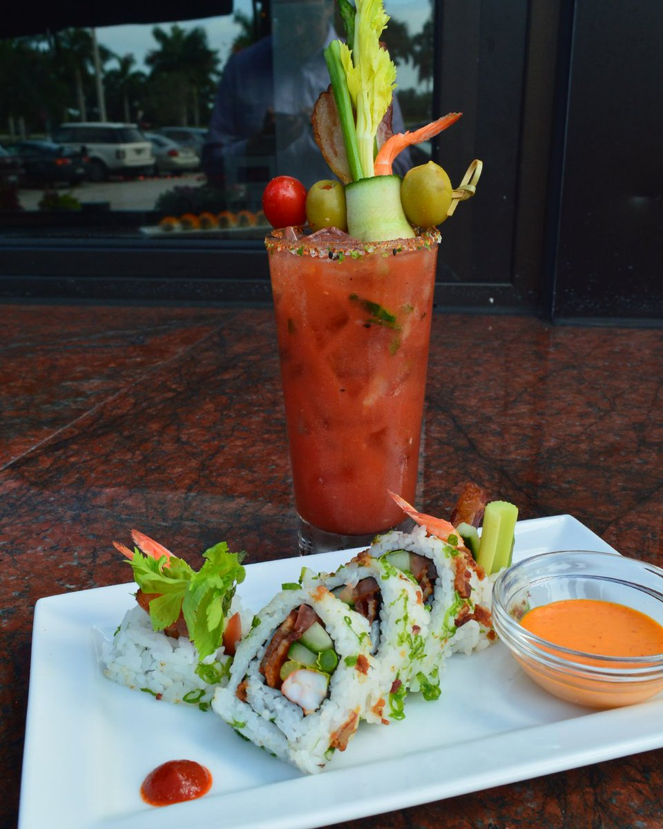 Sunday funday! Because no boring day ever began with drinking a Bloody Mary. #RAbrunch Sun, 11am-3pm. #RAsushi https://t.co/Z2ZuHhHY1D