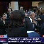 #EnVivoCDN: Hace minutos fue trasladado el féretro Camps hacia el Congreso Nacional, donde se serán rendidos honores https://t.co/qFEFMxQoSX