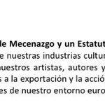 Nueva Ley de Mecenazgo y Estatuto del Artista y el Creador con las #150ReformasCs - Punto 90 - https://t.co/OeM4JdOJQr