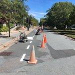 University Av.  Bike Lane- Progress to be proud of @hfxgov @DalOfficeSust @WayeMason @DalBikeCentre @DalTRAC https://t.co/XpOkgZmaV7