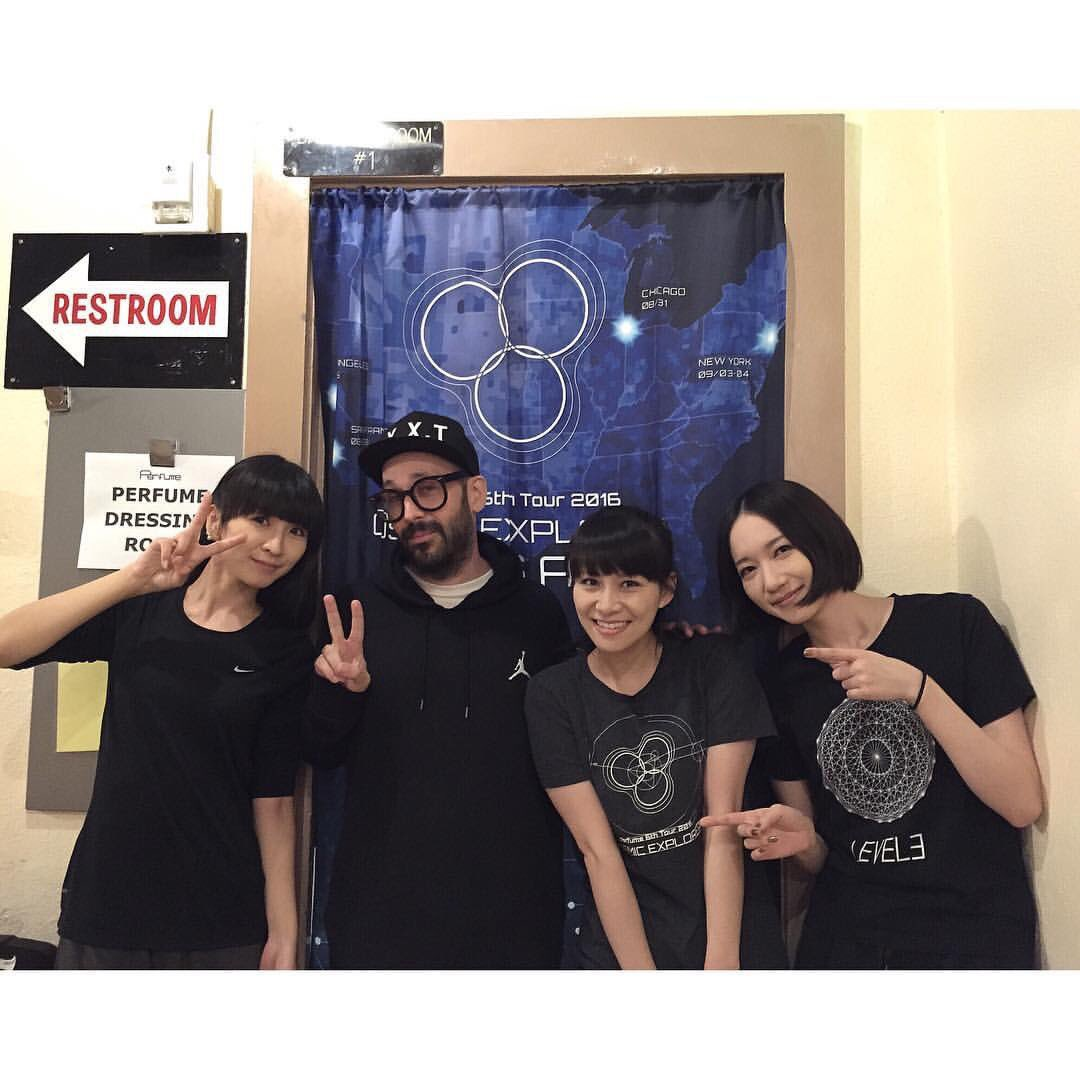 Tim got to see our palz @Perfume_Staff last night at the Wiltern!!! Always so nice to see the ladies!!