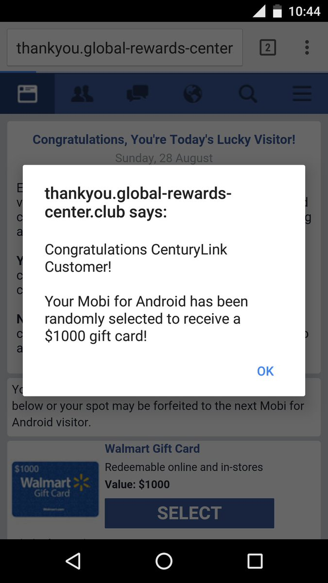 interesting reward program from @CenturyLink cc @CenturyLinkHelp  (Chrome browser) https://t.co/TmRGoLUtxO