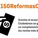 Gracias al acuerdo de @CiudadanosCs se garantizará un complemento salarial a las rentas más bajas #150ReformasCs https://t.co/JnePmkOCik