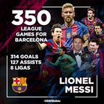 Tonight is Lionel Messis 350th league game for FC Barcelona. Football will never be the same again. https://t.co/eN1bO0yTSs