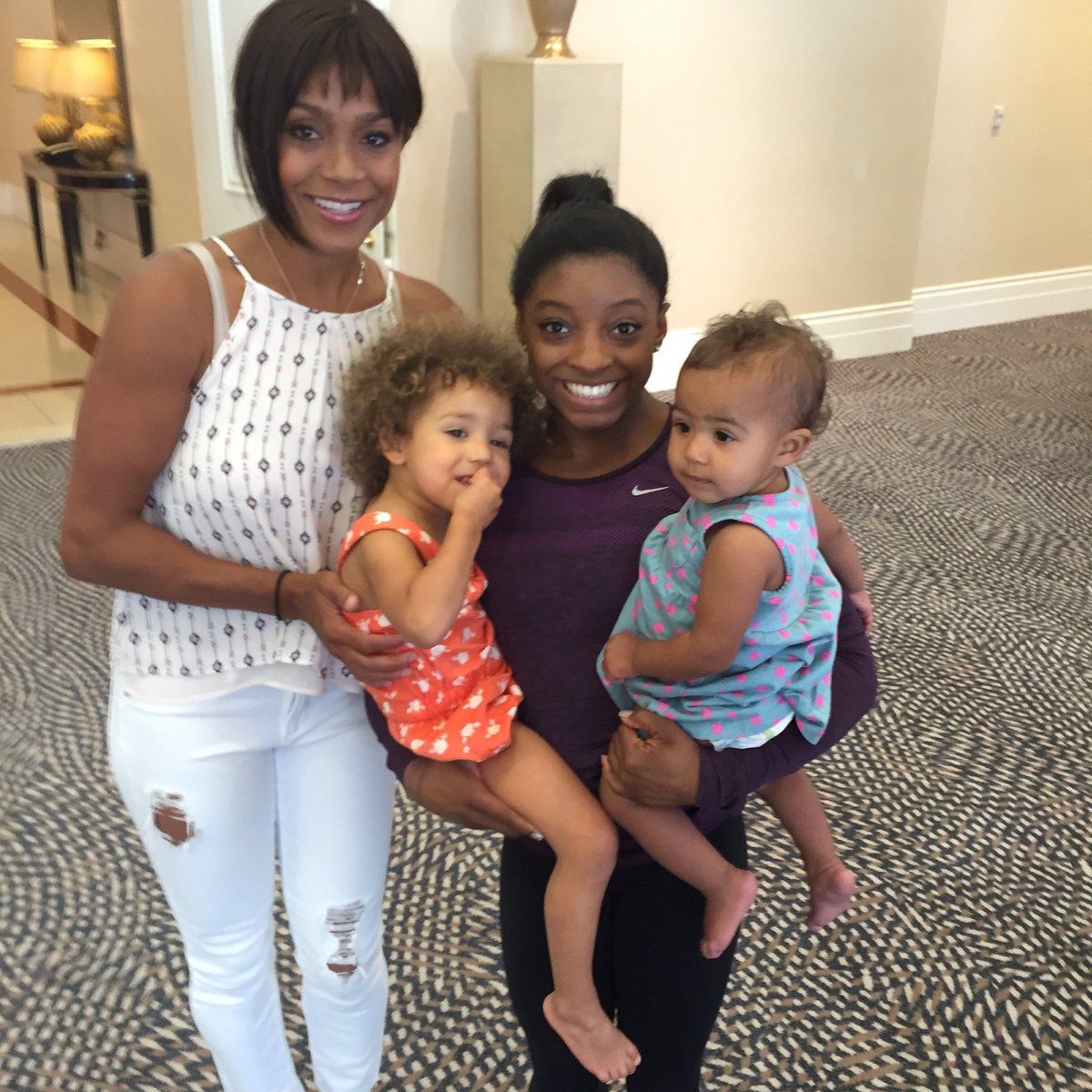 U @simonebiles r truly the #GOAT I'm blessed2have introduced my girls2u Enjoy the journey don't lose that smile @GMA https://t.co/jhbYX0CZFw