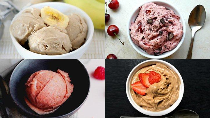 4 quick and easy NO-sugar ice cream recipes: