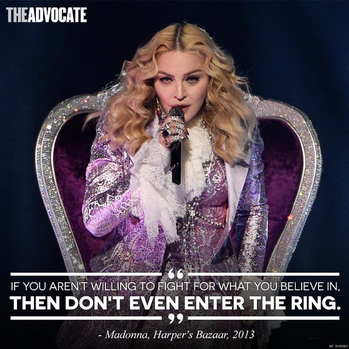 Wise words from Madonna! Happy birthday!