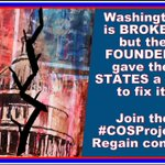 MT @jstines3: Washington DC is BROKEN, but FOUNDERS gave STATES a tool to fix it!   #COSProject #ARTICLEV #PJNET https://t.co/OuaYCt73sO