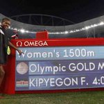 Faith Kipyegon wins 1500m Olympic gold for Kenya