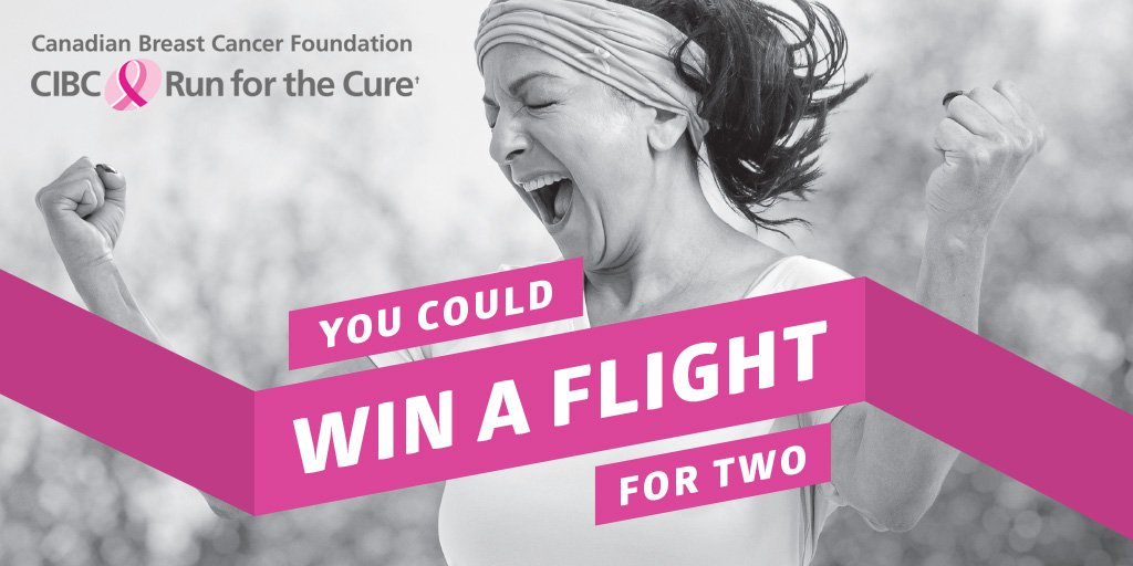 RT @CBCF: Register for CIBCRunfortheCure by August 19 & you could win one flight for two on @WestJet: https://t.co…