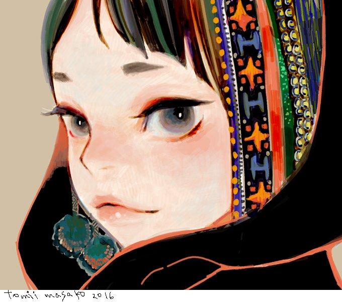 夜絵:顔まとめ「目と目が:a se mo 銀河:青々」: いつもと少し塗り方変えてみた楽描き顔達。3枚目描いて顔アップ描きたい欲 落ち着きました。 https://t.co/rNRFkFTL5Z
