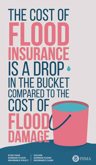 Think #flood #insurance is expensive? Think how much you stand to lose without it. @FEMA #FloodSmart https://t.co/98FRtIKvjx