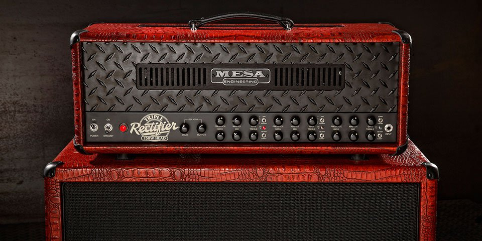 The fire breathing Triple Rectifier in Antique Red Crocodile Embossed Leather, with Black Diamond Plate https://t.co/EUBbDDAhMp