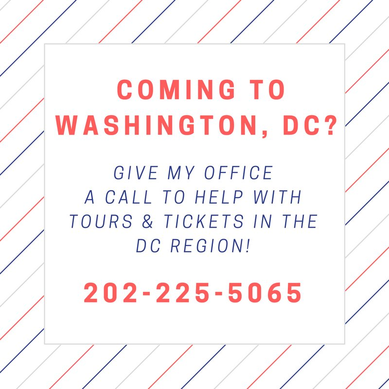 Coming to #WashingtonDC? Give my office a call for help with tours! https://t.co/Rvdi9QZ0sR