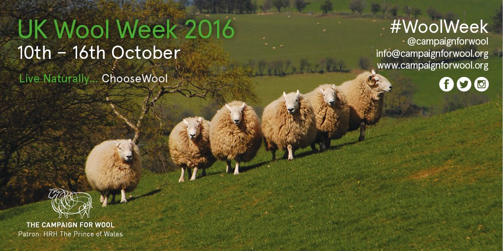 Before we have a little August break here's news: #WoolWeek UK is back from 10th - 16th Oct - spread the #wool word! https://t.co/aHBTFQJpjd