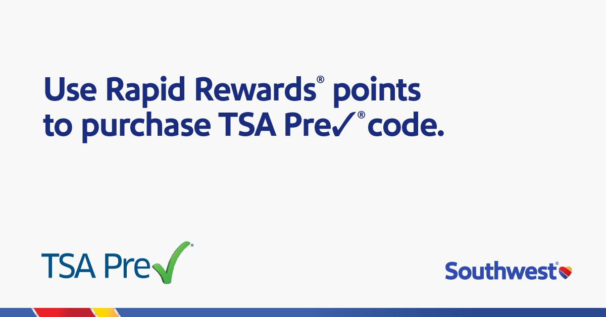 Redeem 9,000 points and bypass the TSA Pre✔® application fee! -->