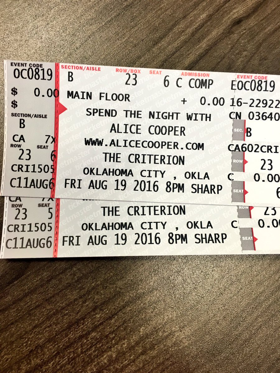 We're giving away a pair of tickets to see @AliceCooperSays this Fri. at the @CriterionOKC! RT for a chance to win! https://t.co/CykE2BZjs9